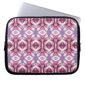 Rosa lila Lavendel-Band-Frilly Laptop-Hülse Computer Schutzhüllen