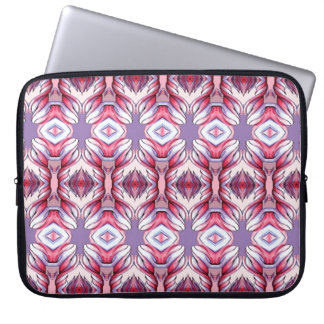 Rosa lila Lavendel-Band-Frilly Laptop-Hülse Laptop Computer Schutzhülle