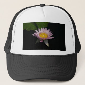 Rosa lila Lotos-Wasserlilie Truckerkappe