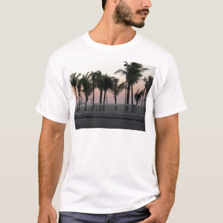 Rosa lila Palmen T-Shirt