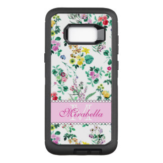 Rosa lila rote gelbe Wildblumen u. Rosen, Name OtterBox Defender Samsung Galaxy S8+ Hülle