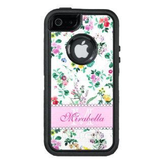 Rosa lila rote gelbe Wildblumen u. Rosen, Name OtterBox iPhone 5/5s/SE Hülle