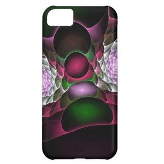 Rosa lila schwarze Blasen und Augen-Fraktal-Kunst iPhone 5C Hülle