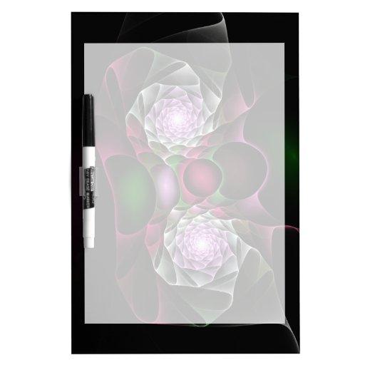 Rosa lila schwarze Blasen und Augen-Fraktal-Kunst Memo Board