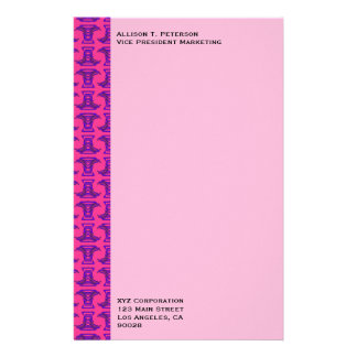Rosa lila Stammes- Stock-Muster Personalisierte Büropapiere