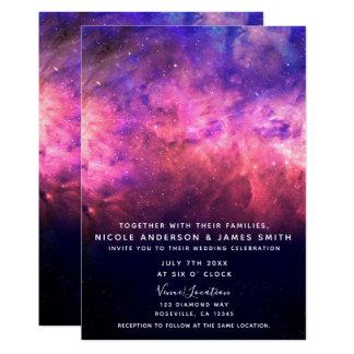 Rosa lila Starry Himmel-kosmische Karte