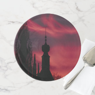 rosa Lila Tortenplatte