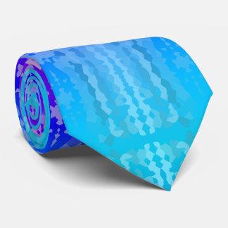 Rosa, lila und blaues Fraktal-Muster Bedruckte Krawatte