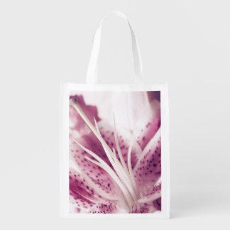 Rosa Lilie - wiederverwendbare Tasche Wiederverwendbare Einkaufstasche