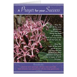 Rosa Lilien-Erfolg Grußkarte