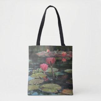 Rosa Lilien-Teich-Taschen-Tasche Tasche