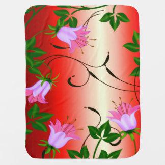 rosa Lilienbabydecke Baby-Decke