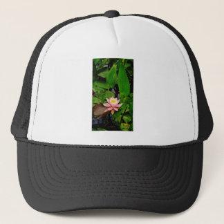 Rosa Lilienlotos-Wasserlilien-Blume Truckerkappe
