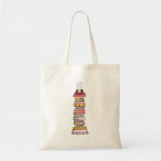 Rosa Limonade-Buch-Stapel-Tasche Tragetasche