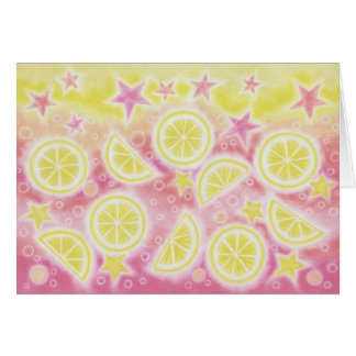 """Rosa Limonade """"danken Ihnen"""" Grußkarte"""