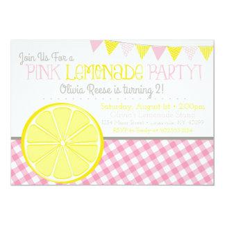 Rosa Limonade-Mädchen-Geburtstags-Party Einladung