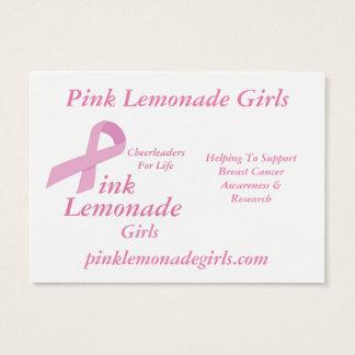 Rosa Limonade-Mädchen Visitenkarte
