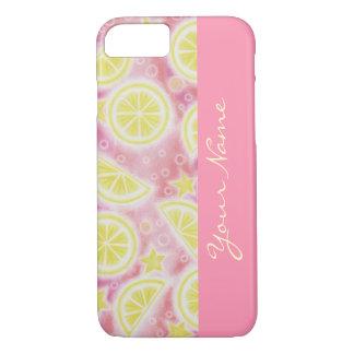 "Rosa Limonade-""Name"" iPhone 7 Fallrosa iPhone 7 Hülle"