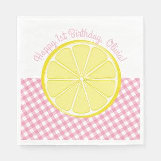 Rosa Limonade-Party-Servietten Papierservietten