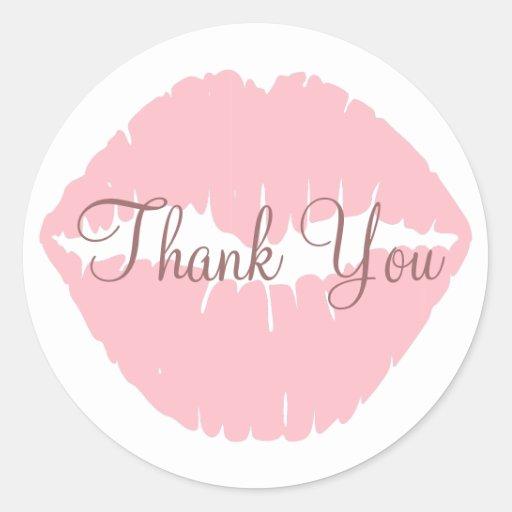 Rosa Lippen danken Ihnen Aufkleber