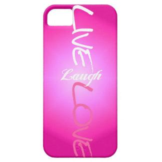 Rosa-Livelachen-Liebe iPhone Fall iPhone 5 Schutzhüllen