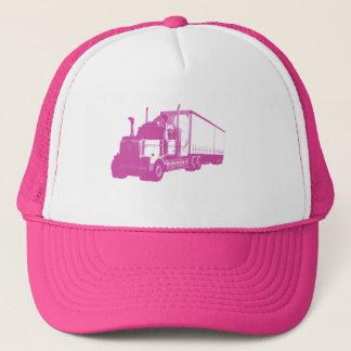 Rosa LKW Truckerkappe