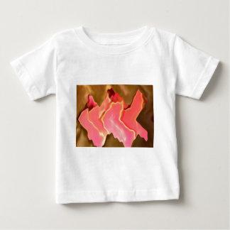 Rosa Lob - Rosen-Blumenblatt-Kunst Baby T-shirt