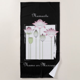 Rosa Lotos-Blume Namaste elegante moderne Strandtuch
