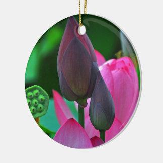 Rosa Lotos-Blüten-Keramik-Verzierung Keramik Ornament