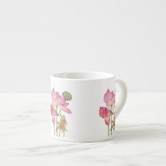 Rosa Lotos-Stamm-Kaffee-Tasse Espressotasse
