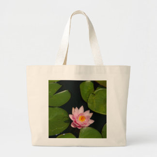 Rosa Lotos-Wasserlilie Jumbo Stoffbeutel