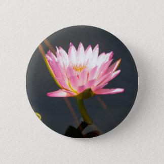 Rosa Lotos-Wasserlilie Runder Button 5,7 Cm