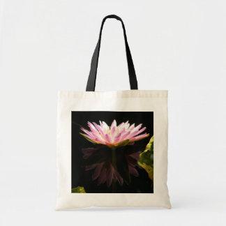 Rosa Lotos-Wasserlilie Tragetasche