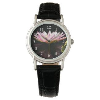 Rosa Lotos-Wasserlilie-Uhr Uhr