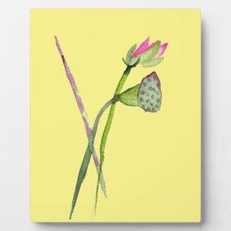 Rosa Lotoszen-Blume Buddhist-Kunst Fotoplatte