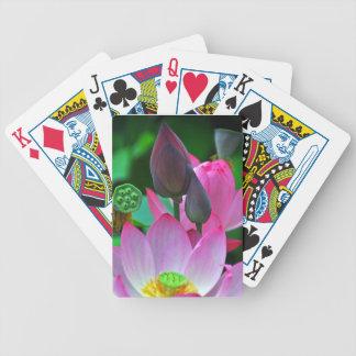 Rosa Lotus-Blüten Bicycle Spielkarten