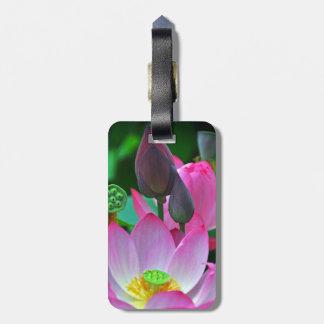 Rosa Lotus-Blüten Gepäckanhänger