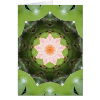 Rosa Lotus-Brechung Karte
