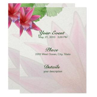Rosa Lotus-Einladung 4,25 x 5,5 Karte