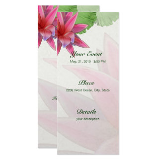 Rosa Lotus-Einladung 4 x 9,25 Karte