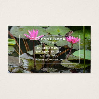 Rosa Lotus-Visitenkarte Visitenkarte