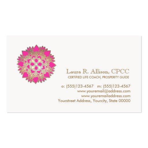 Rosa Lotuswellness-und heilende Kunst-Visitenkarte
