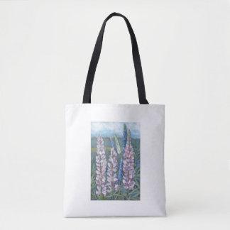 """""""Rosa Lupines von Maine"""" weiße Taschentasche Tasche"""
