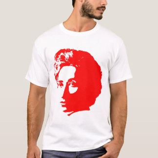 Rosa Luxemburg mit Zitat T-Shirt