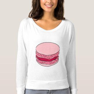 Rosa Macaron Erdbeerfraise-Nachtisch-Bonbon-Rosa T-shirt