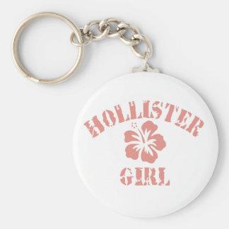Rosa Mädchen Hollister Schlüsselanhänger