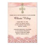 Rosa Mädchen-Taufe-Taufeinladung 11,4 X 15,9 Cm Einladungskarte