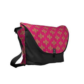 rosa magentarote Goldbote-Tasche Courrier Kurier Taschen