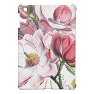 Rosa Magnolien-Blumen-botanische Illustration iPad Mini Hülle