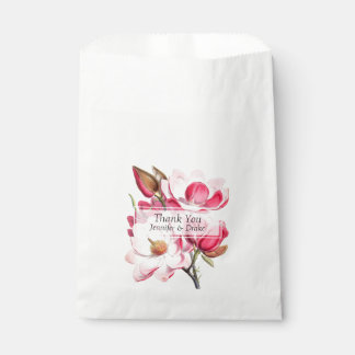 Rosa Magnolien-Gastgeschenk Hochzeits-Tasche Geschenktütchen